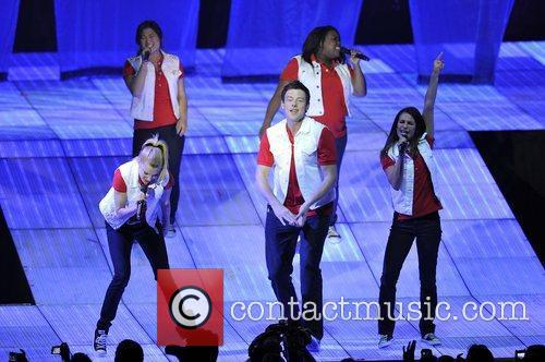 The cast of Glee perform live at the...