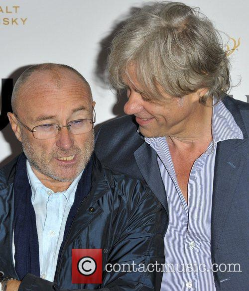 Phil Collins and Bob Geldof 1