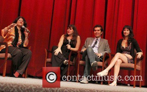Moderator Shirley Jahad, director Maryam Keshavarz and Reza...