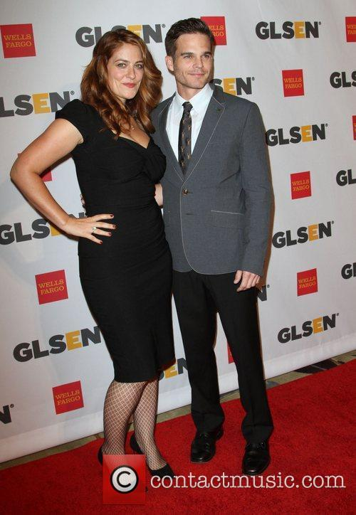 Clementine Ford and actor Greg Rikaart 2011 GLSEN...