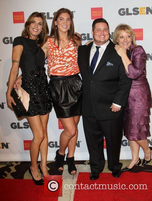 Elisabetta Canalis, Hope Solo, Chaz Bono held at...