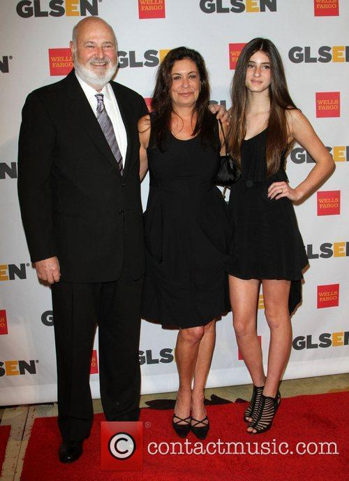 Rob Reiner, wife Michele Singer and daughter 2011...