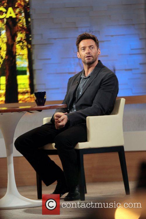 Hugh Jackman  at ABC studios for an...