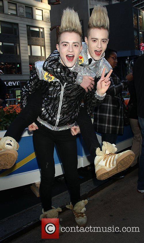 Irish pop duo Jedward Celebrities at ABC Studios...
