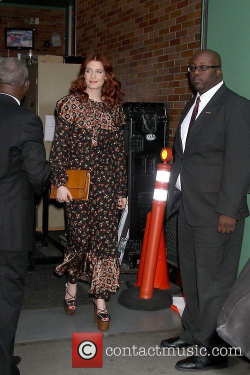 florence welch celebrities arrive at abc studios 5758760