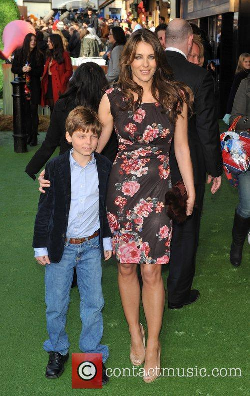 Liz Hurley and guest 'Gnomeo & Juliet' premiere...