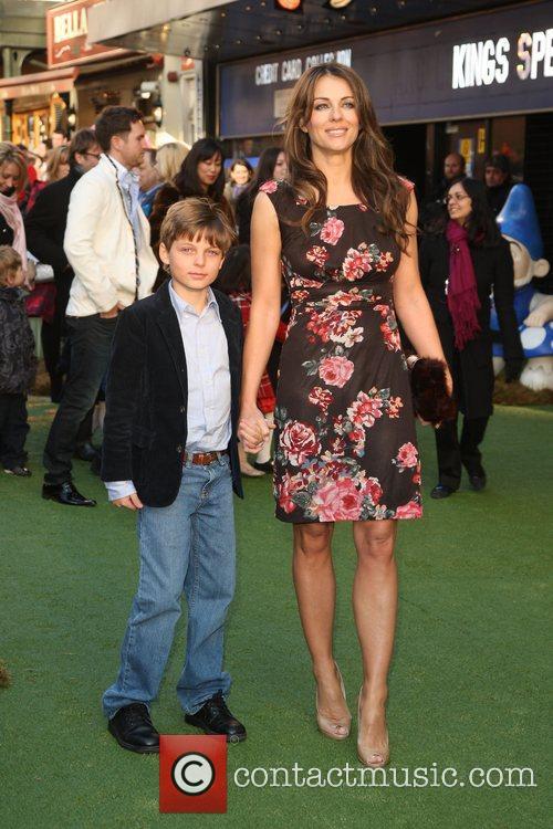 Elizabeth Hurley aka Liz Hurley with her son...