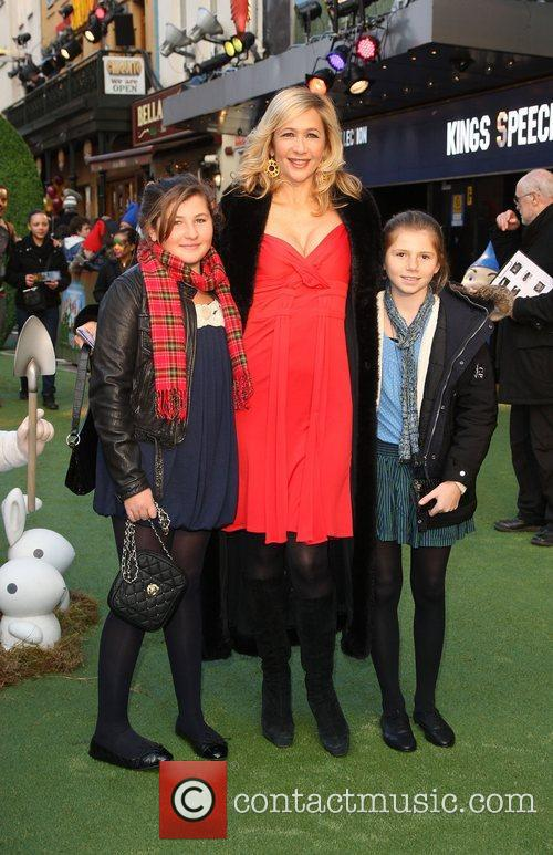 Tania Bryer with her daughters Gnomeo And Juliet...
