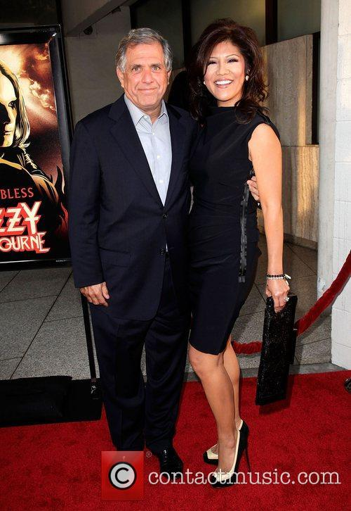 Leslie Moonves and Julie Chen Screening of God...