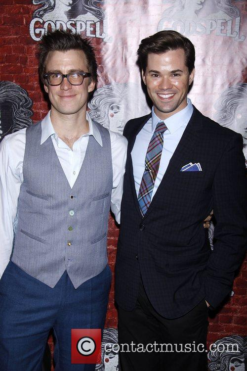 Gavin Creel and Andrew Rannells  Opening night...
