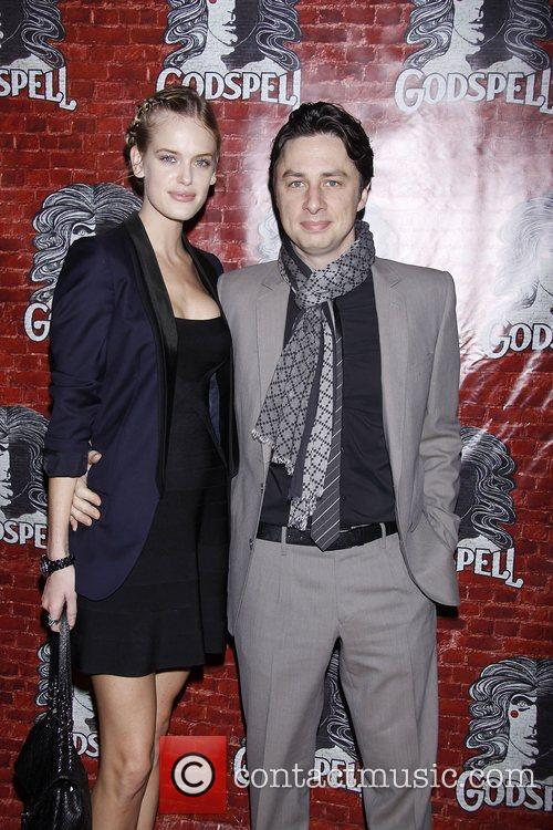 taylor bagley and zach braff opening night 3597873