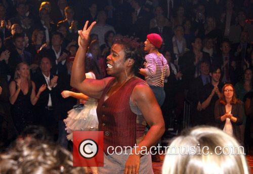 Uzo Aduba and cast Opening night of the...