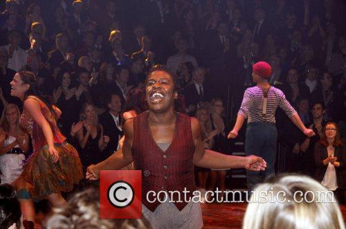 Opening night of the Broadway musical production 'Godspell'...