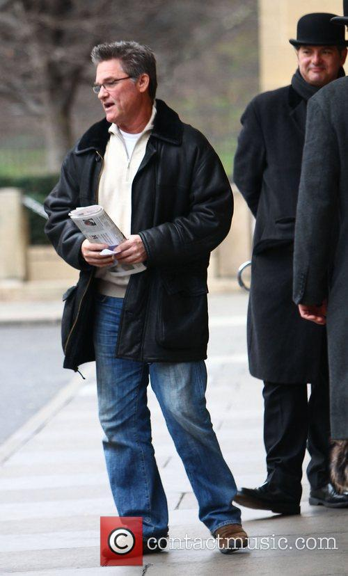 Kurt Russell leaving his hotel in London London,...
