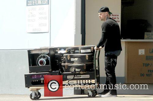Picking up his instruments in Studio City