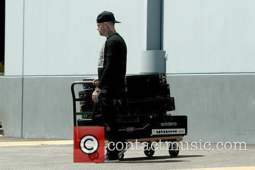 Benji Madden picking up his instruments in Studio...