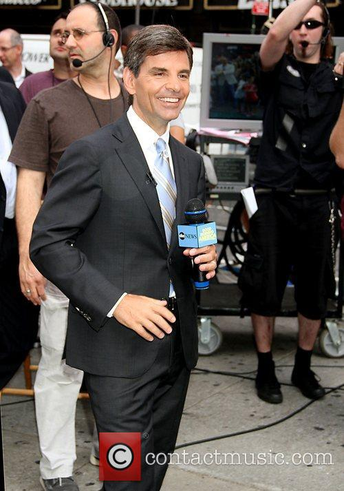 George Stephanoulos outside ABC studios for 'Good Morning...