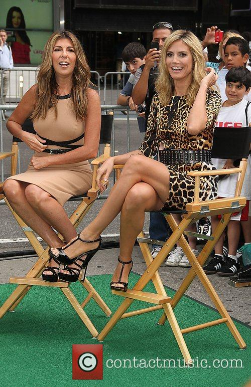 Nina Garcia, Heidi Klum  outside ABC studios...