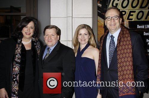 Lynne Meadow, David Lindsay-Abaire, Christine Lindsay-Abaire and Barry...