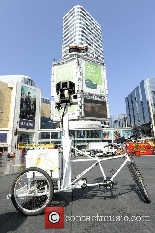 The trike, which captures Street View images off-the-beaten-track...