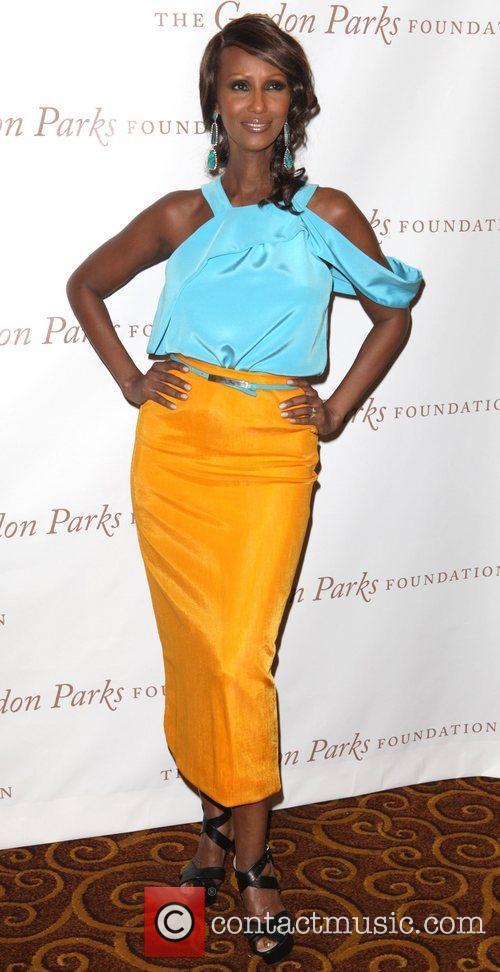 Iman at the Gordon Parks Foundation awards dinner...
