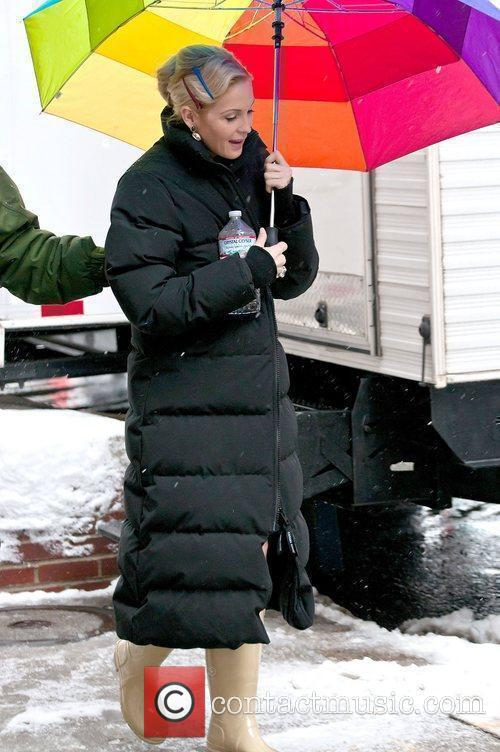 Kelly Rutherford on the film set of 'Gossip...