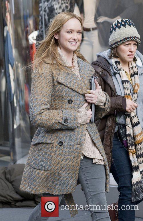 Filming Gossip Girl on location in Manhattan, New...