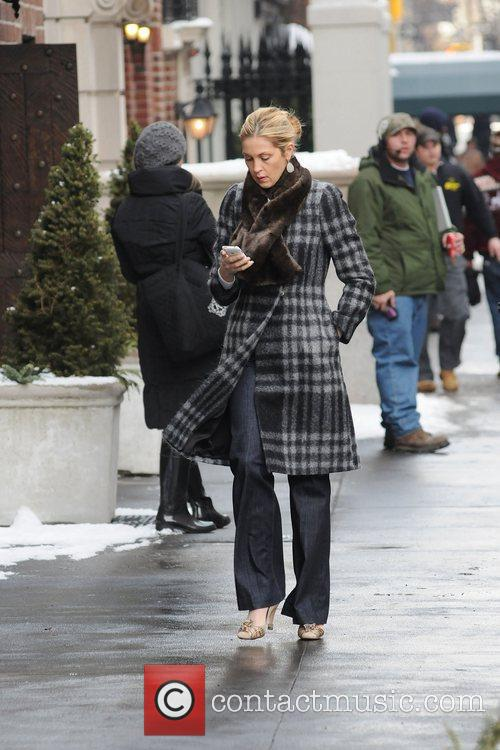 Kelly Rutherford on the film set of Gossip...