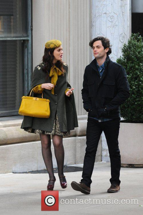 Leighton Meester and Penn Badgley 2