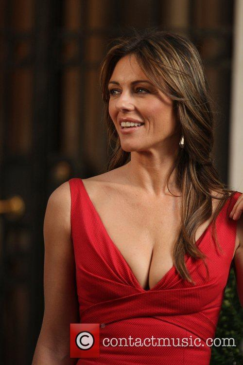 Elizabeth Hurley shooting a guest starring role for...