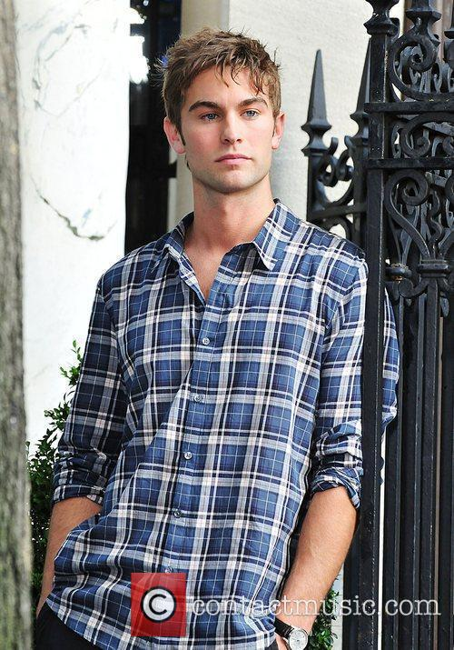 Chase Crawford,  shooting a guest starring role...