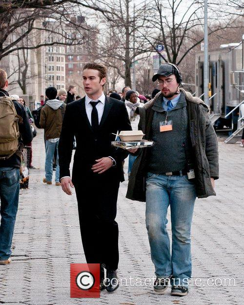 On the set of 'Gossip Girl' on the...