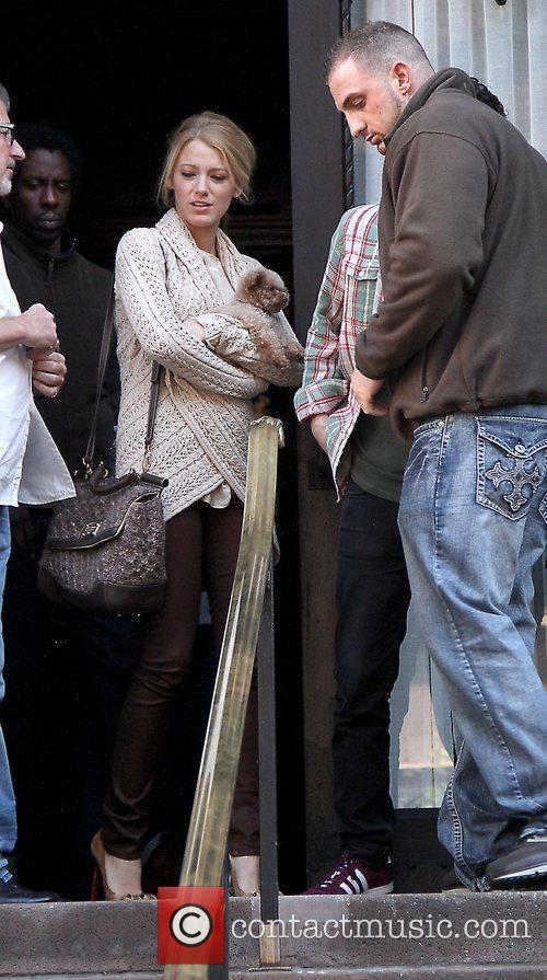 Blake Lively  Celebrities on the set of...