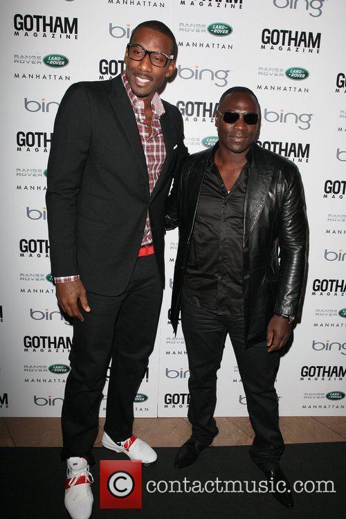 Amar E. Stoudemire and Adewale Akinnouye Agbaje...