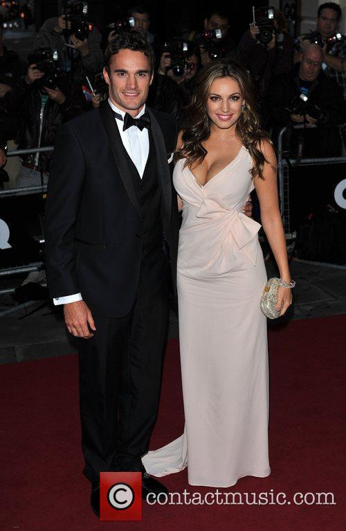 Kelly Brook and Guest 2011 GQ Men of...