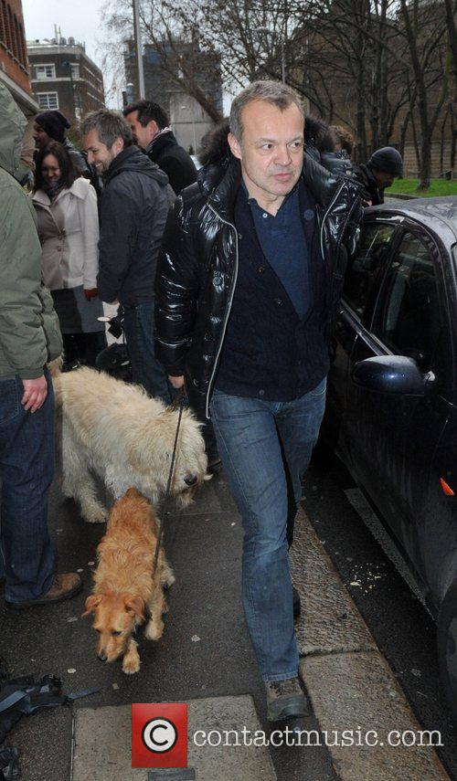 Takes his dogs for a walk along the...