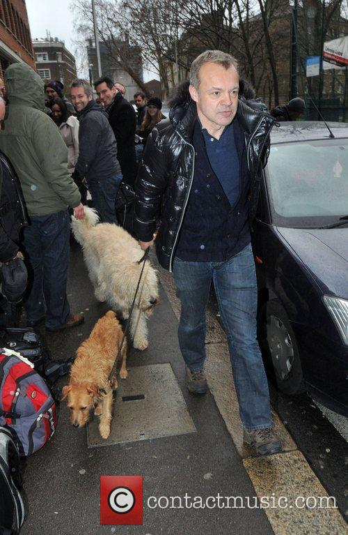 Graham Norton takes his dogs for a walk...