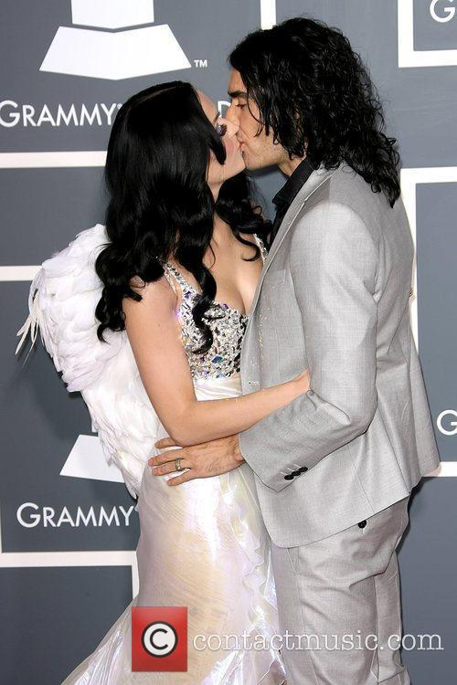Katy Perry and Russell Brand kissing The 53rd...