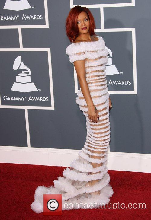 Rihanna The 53rd Annual GRAMMY Awards at the...