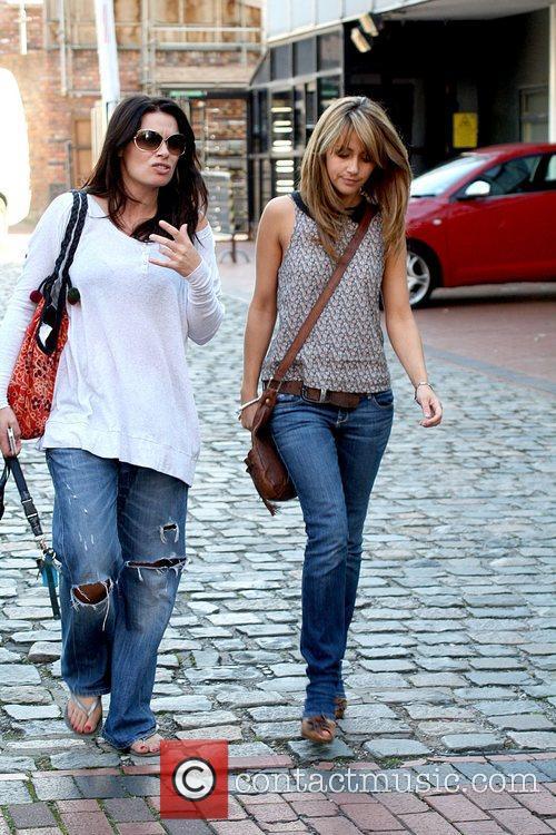 Alison King and Samia Smith outside Granada Studios...