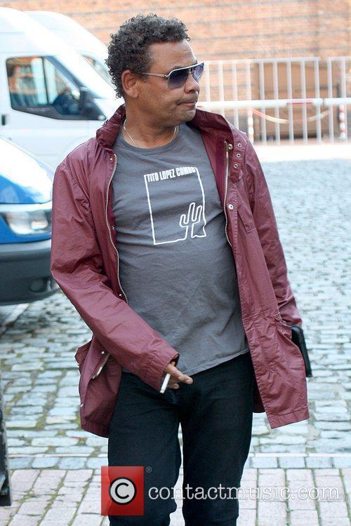 Craig Charles smoking outside Granada Studios Manchester, England