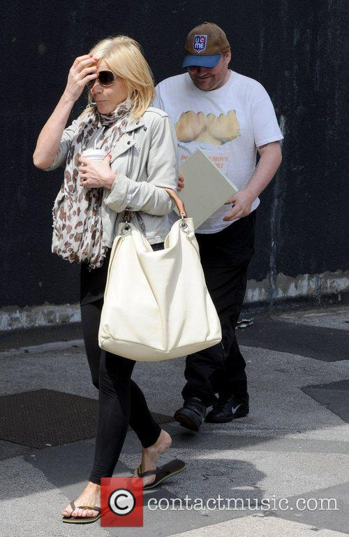 Michelle Collins and super soap fan Stephen Jones...