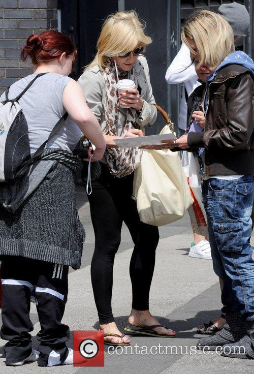 Michelle Collins meeting with fans Michelle Collins outside...