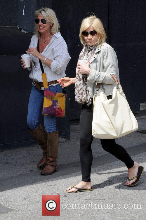 Michelle Collins outside the Granada Studios, where she...