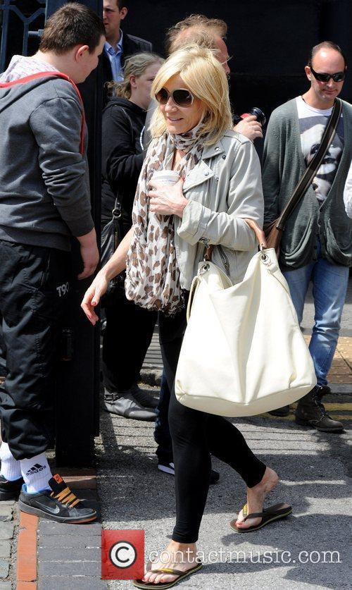 Outside the Granada Studios, where she was shocked...
