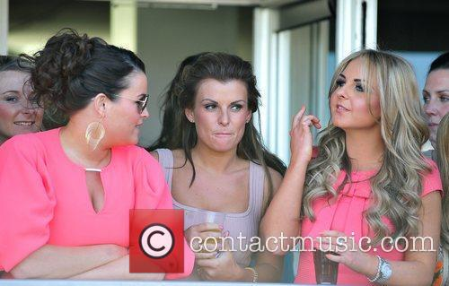 Coleen Rooney and friends Ladies Day at the...