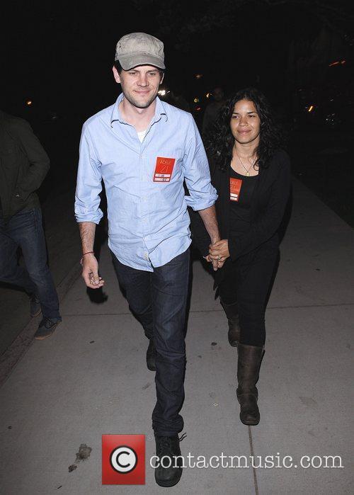 America Ferrera and her husband Ryan Piers Williams...