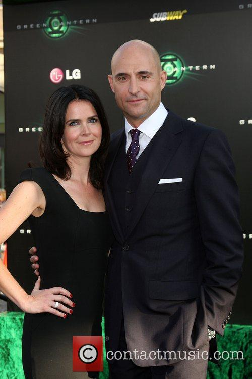 Liza Marshall and Mark Strong Los Angeles Premiere...