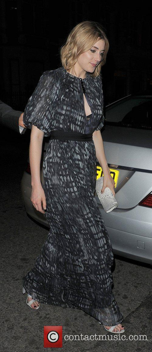 Greta Gerwig arriving back at her hotel. London,...
