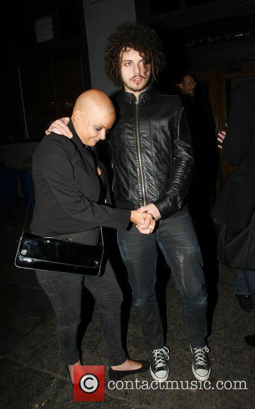 Gail Porter and boyfriend Johnny Davies leaving the...